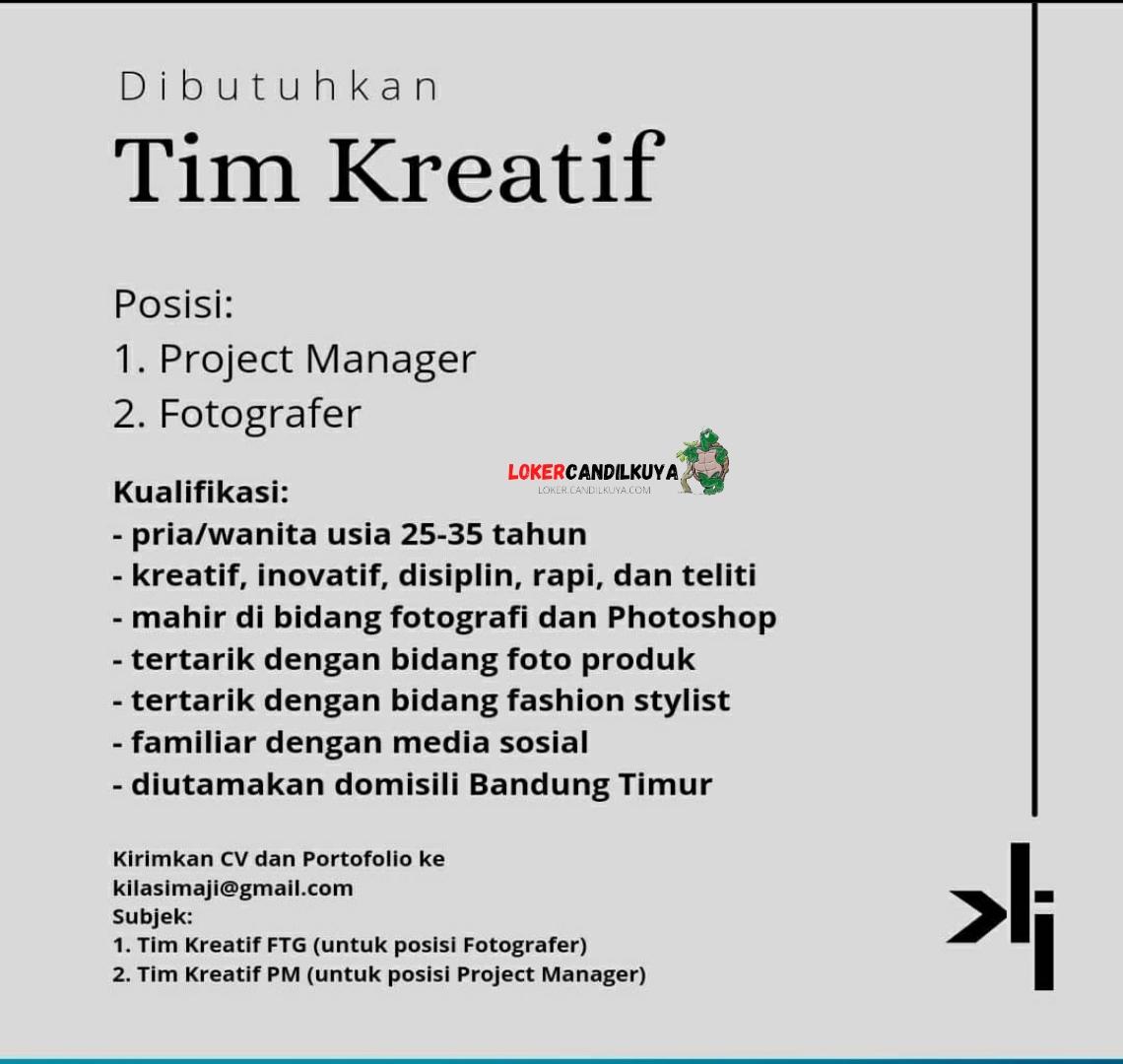 Lowongan Kerja Fotografer Kilas Imaji Bandung