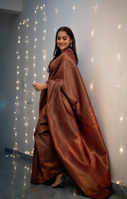 Rashmi Gautam New Stills in Saree Navel Queens