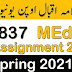 AIOU 837 Education Research Solved Assignment Spring 2021