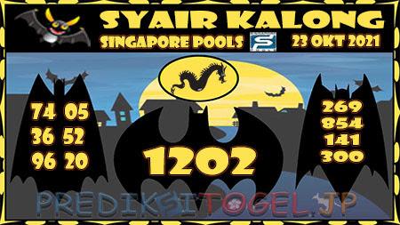 Syair Kalong Togel Singapura Sabtu 23-10-2021