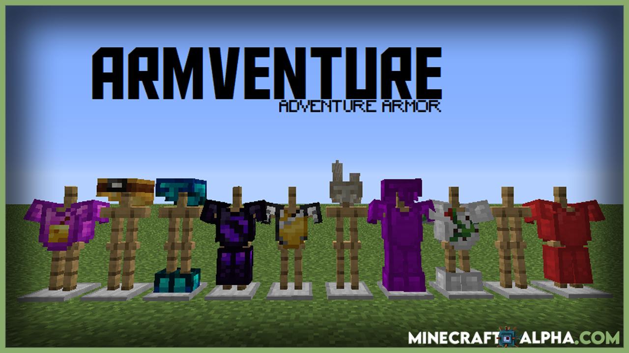 Minecraft Armventure Mod 1.17.1 1.16.5 1.15.2 (Utility Armors)