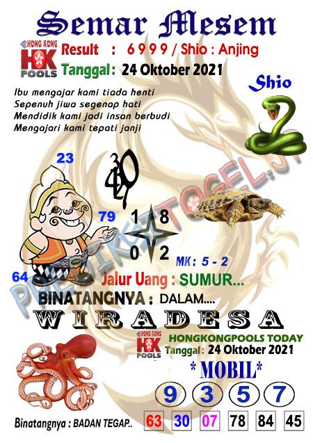 Syair Semar Mesem Togel Hongkong Minggu 24-Okt-2021