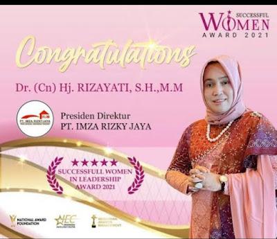lagi,  Hj Rizayati  Meraih Anugerah Wanita Hebat