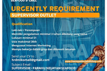 Loker Bandung Supervisor Outlet Perahu Nelayan