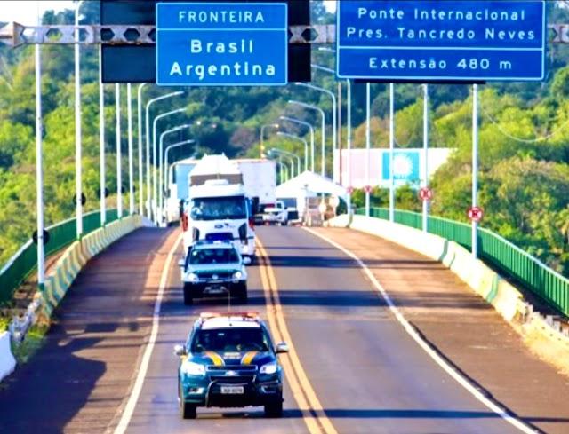 PRF informa sobre documentos exigidos na fronteira terrestre com a Argentina
