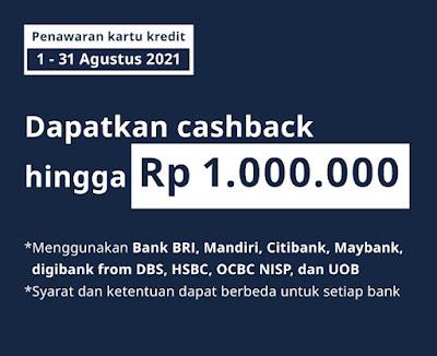Syarat & Ketentuan Promo IKEA Cashback Hingga 1 Juta Pakan Kartu Kredit (s.d 31 Agustus 2021)