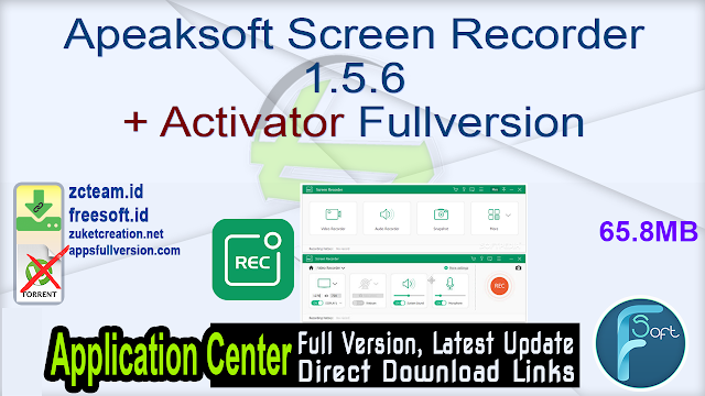 Apeaksoft Screen Recorder 1.5.6 + Activator Fullversion