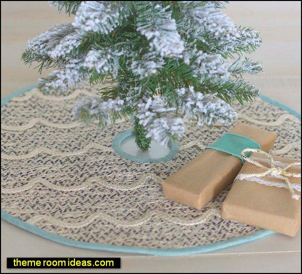 coastal christmas tree skirt coastal christmas decorations
