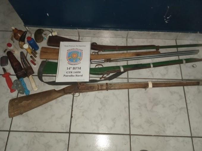 FLORES: Armas de caçadores são conduzidas à DP de Serra Talhada