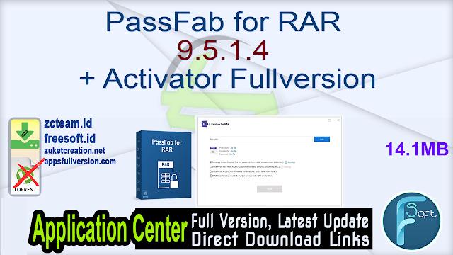 PassFab for RAR 9.5.1.4 + Activator Fullversion