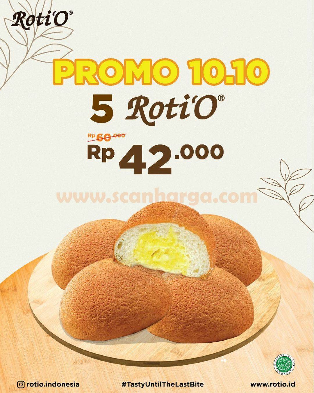 Promo Roti O Spesial 10.10 Beli 10 Roti'O Cuma Rp. 80.000 2