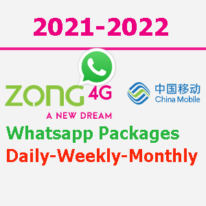 Zong WhatsApp App Packages