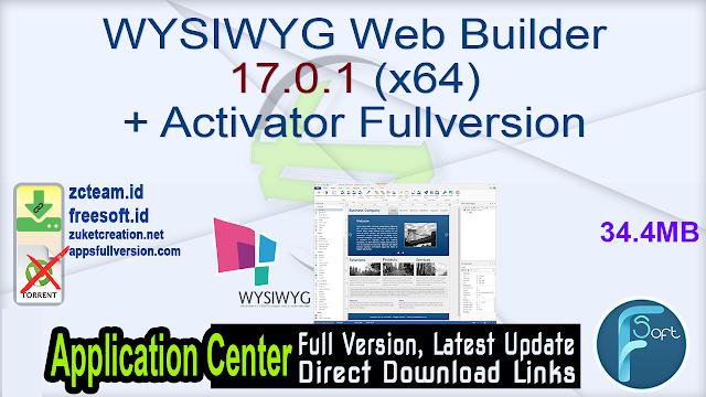 WYSIWYG Web Builder 17.0.1 (x64) + Activator Fullversion