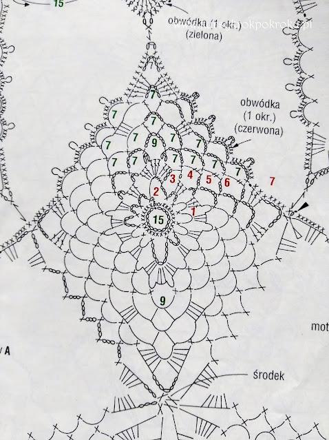 Duża gwiazda na szydełku - BEZPŁATNY SCHEMAT i OPIS