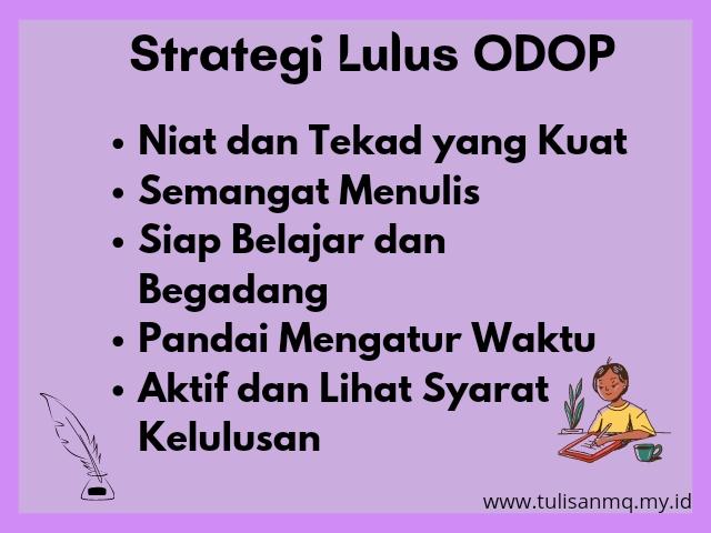 Strategi Lulus ODOP Batch 9