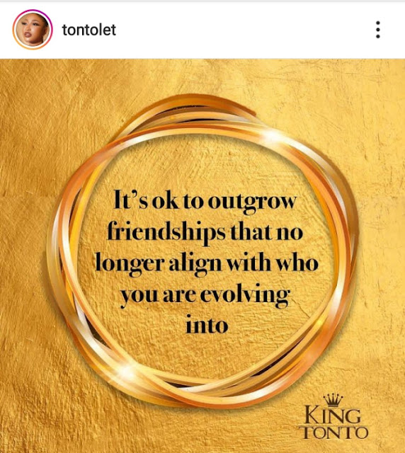 Tonto Dikeh finally reveals reason she stopped her friendship with Bobrisky