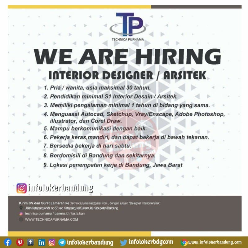 Lowongan Kerja Interior Designer / Arsitek Paneru.Id Bandung Oktober 2021