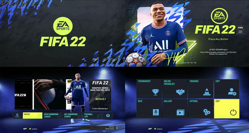 PES 2013 FIFA 22 Graphic Mod Beta 0.1