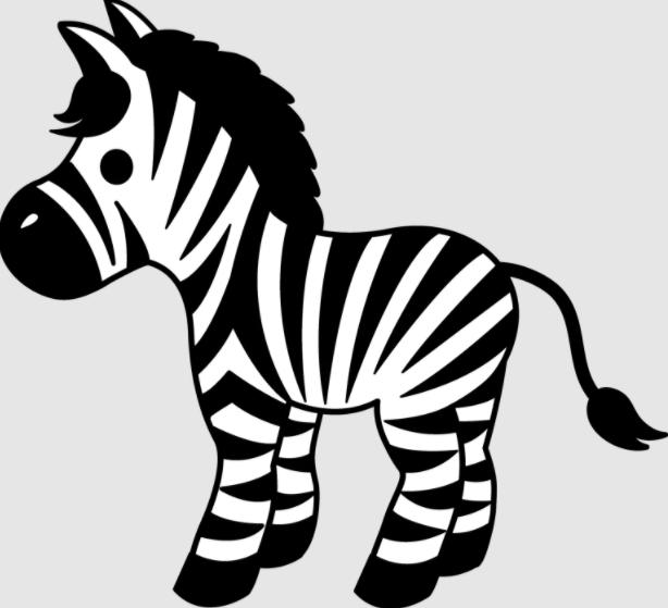 Zebra Coloring Pages PDF Printable 1