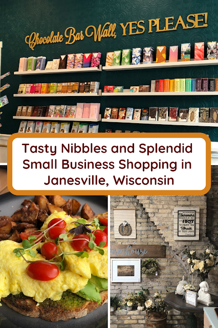 Relishing Nibbles and Small Business Shopping in Janesville, Wisconsin