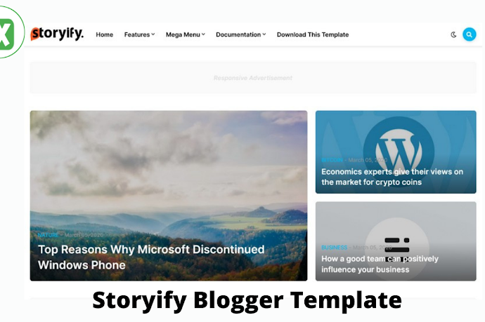 Download Premium Storyify Blogger Template