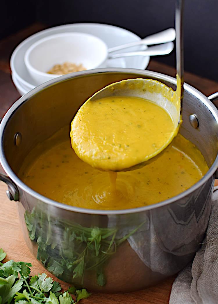 Crema de calabaza, zanahoria y otras verduras