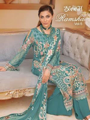 Noor Ramsha vol 5 Pakistani Suits