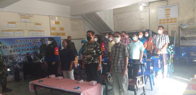Dalam Rangka Pelatihan Satgas Covid-19 Dan Edukasi Porses PTM Dilakukan Personel Jajaran Kodim 0207/Simalungun
