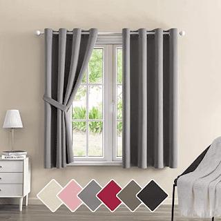 M Morefeel Artlavie Bedroom Blackout Curtains with Tieback