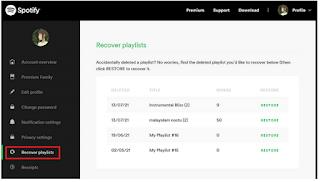 Cara memulihkan daftar putar yang dihapus di Spotify dengan mudah