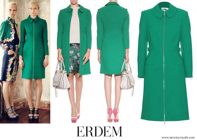 Kate Middleton wore Erdem Allie Woolcrepe Coat