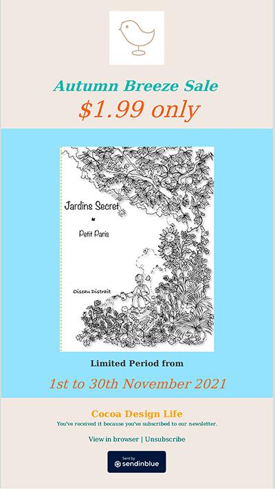 Autumn Breeze Sale of Oiseau Distrait ebook Jardins Secret