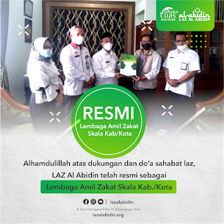 Laz Al Abidin Surakarta Terima SK Izin Operasional Laz Kota