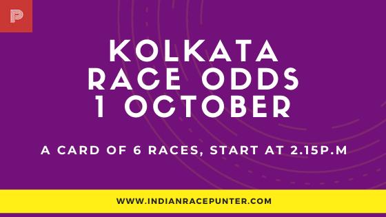 Kolkata Race Odds 1 October