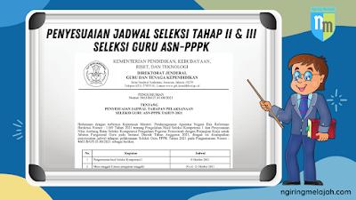 Cek dan Catat Penyesuaian Jadwal Seleksi Tahap II dan III Guru ASN PPPK Terbaru