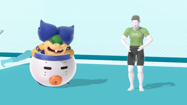 Wii Fit Trainer Deep Breathing Ludwig Von Koopa gasping Super Smash Bros. Ultimate
