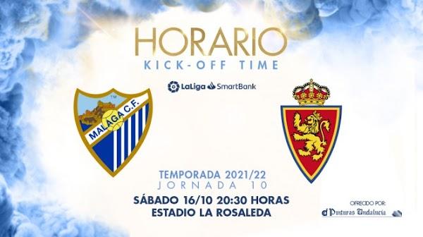 El Málaga - Zaragoza, el sábado 16 de Octubre a las 20:30 horas