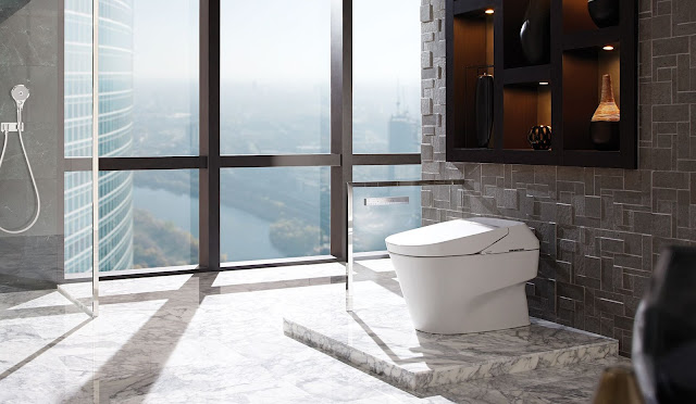 DecorPlanet top rated toilet brand in an expansive bathroom.