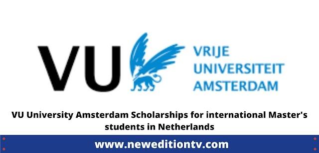 VU Amsterdam Fellowship Programme for International Students in Netherlands