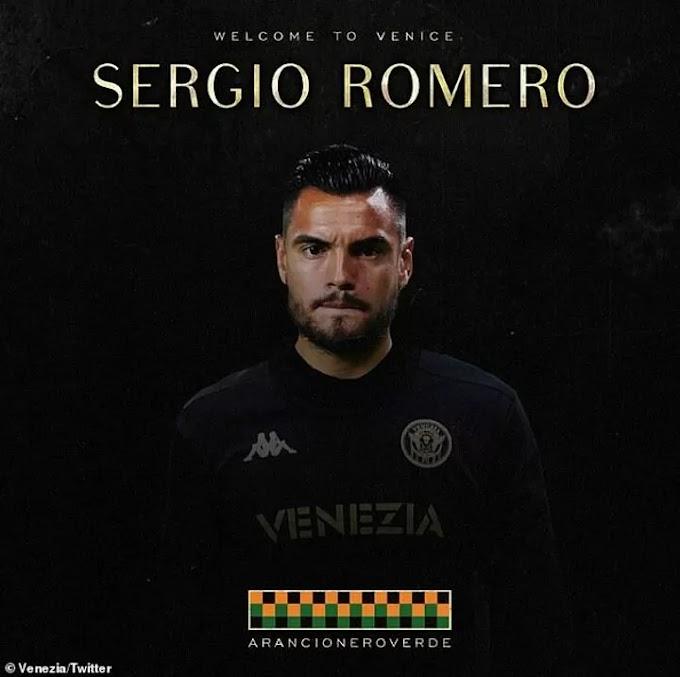 Ex-Manchester United goalkeeper Sergio Romero joins Serie A side Venezia on a free transfer