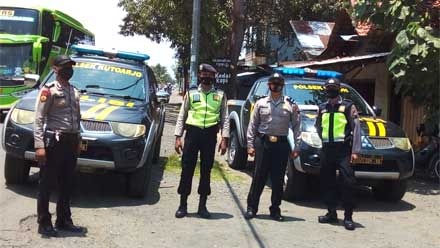 Polsek Butuh dan Kutoarjo Gelar Patroli Yustisi Bersinggungan