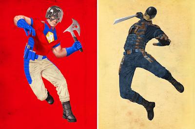 New York Comic Con 2021 Exclusive The Suicide Squad Peacemaker & Bloodsport Portrait Prints by Jason Raish x Bottleneck Gallery x DC Comics