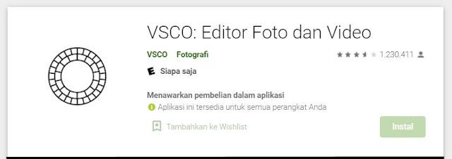 vsco aplikasi buat foto profil wa aesthetic