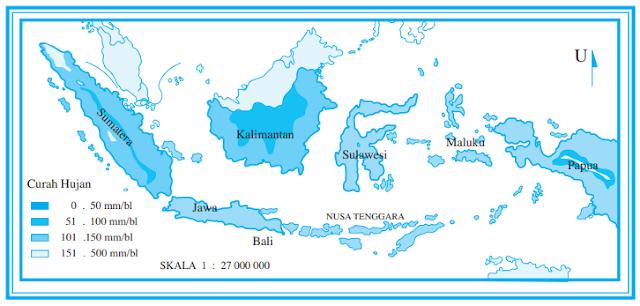 PERSEBARAN CURAH HUJAN DI INDONESIA