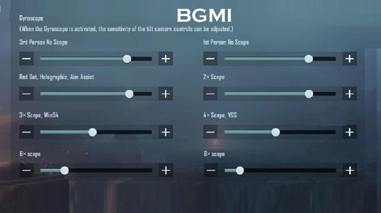 BGMI: Best Gyroscope Sensitivity Settings