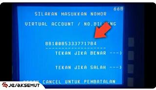 masukan Nomor Virtual Account