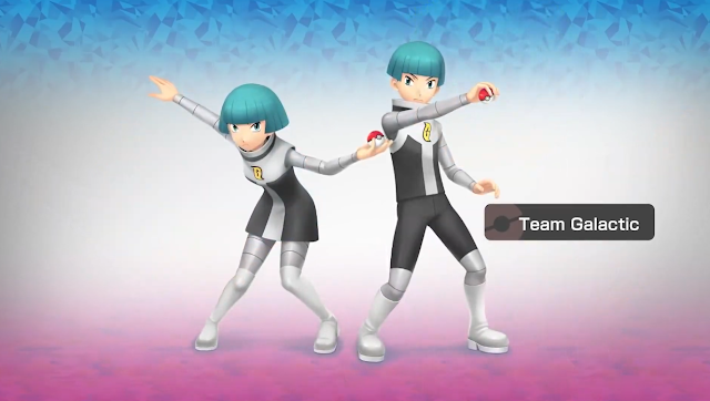 Official Team Galactic Grunts artwork Pokémon Shining Pearl Brilliant Diamond