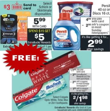 FREE Persil,Schick & Colgate Products