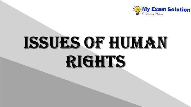 Issues of Human Rights