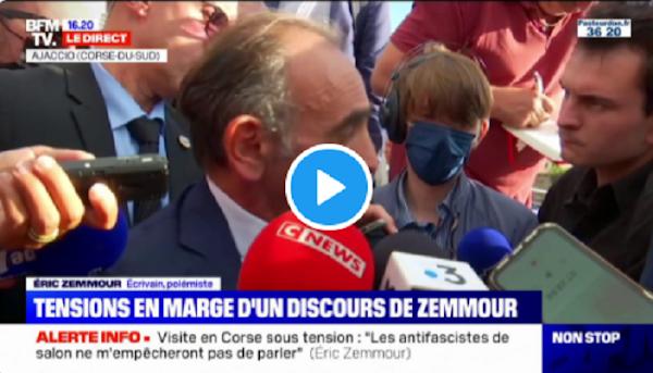 """[VIDEO] """"Théâtre antifasciste"""" : Eric Zemmour dénonce la gauche qui cherche à """"criminaliser l'adversaire"""""""
